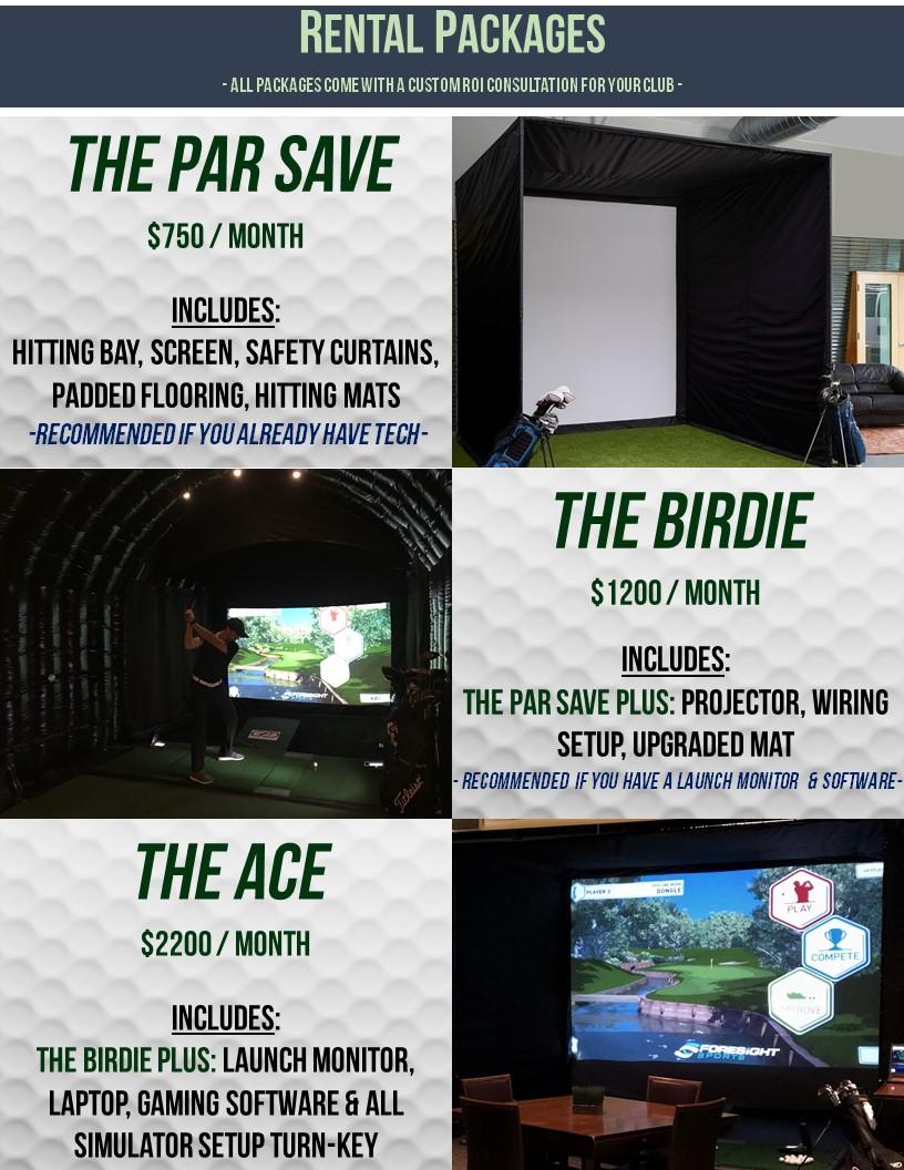 Winter Golf Simulator Rentals