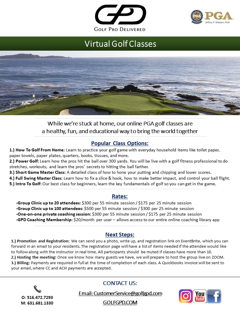 Online PGA Golf Classes